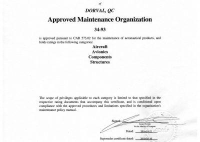 AMO Maintenance Approval